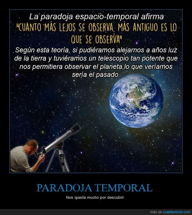 Paradoja espacio-temporal,Planeta Tierrra,Viajes en el tiempo