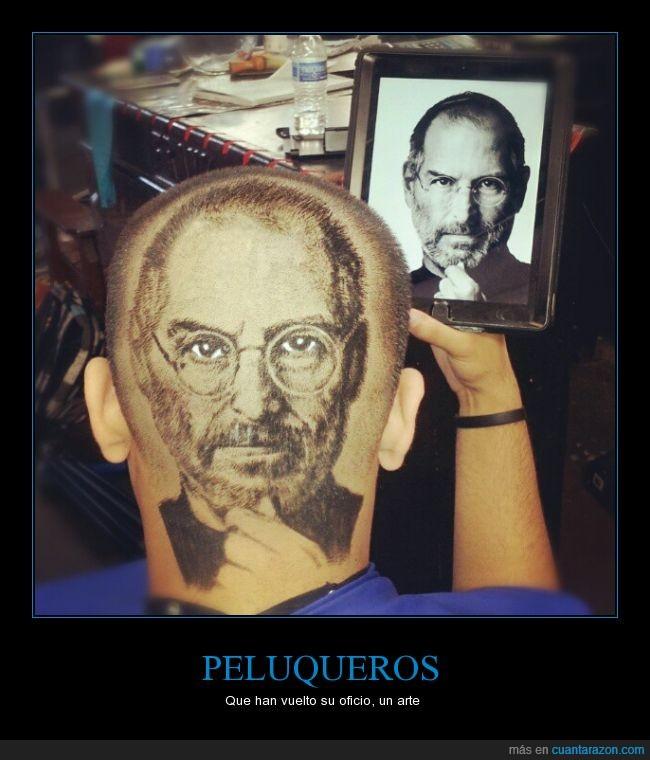 artista,cabello,corte,dibujar,dibujo,estilista,pelo,peluquería,rapado,Steve Jobs