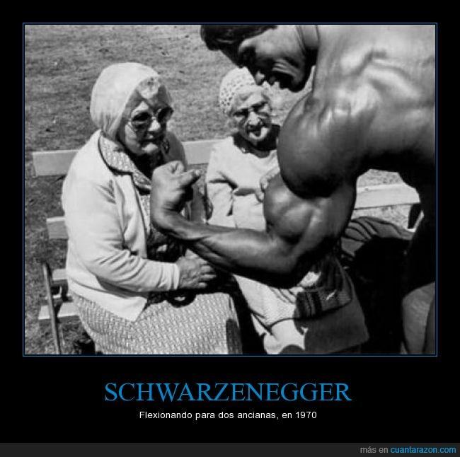 abuela,anciana,biceps,brazo,culturista,flexionar,obviamente su apellido lo copié de google,Schwarzenegger,señora,vieja
