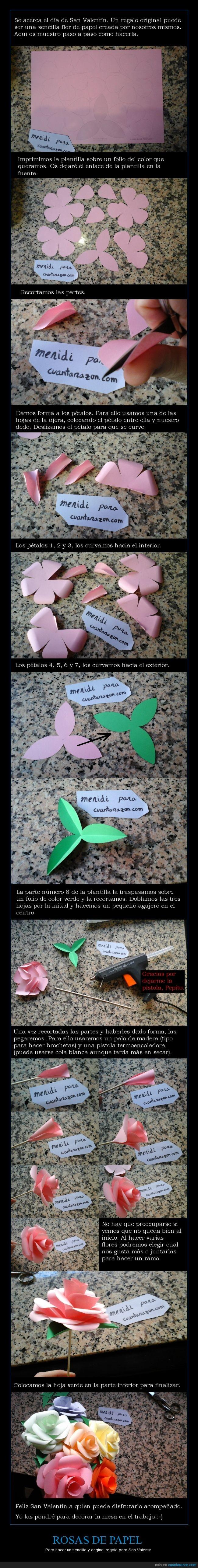 flor,manualidades,papel,pegamento,pétalo,pistola,plantilla,ramo,recortar,rosa,San Valentín,termoencoladora,tijeras