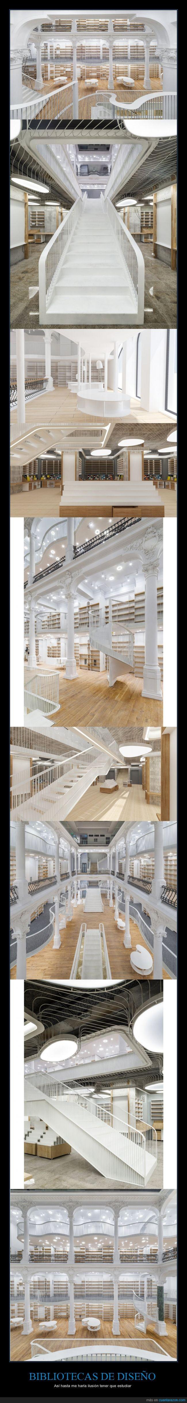 biblioteca,blanca,escalera,libros,madera,nueva