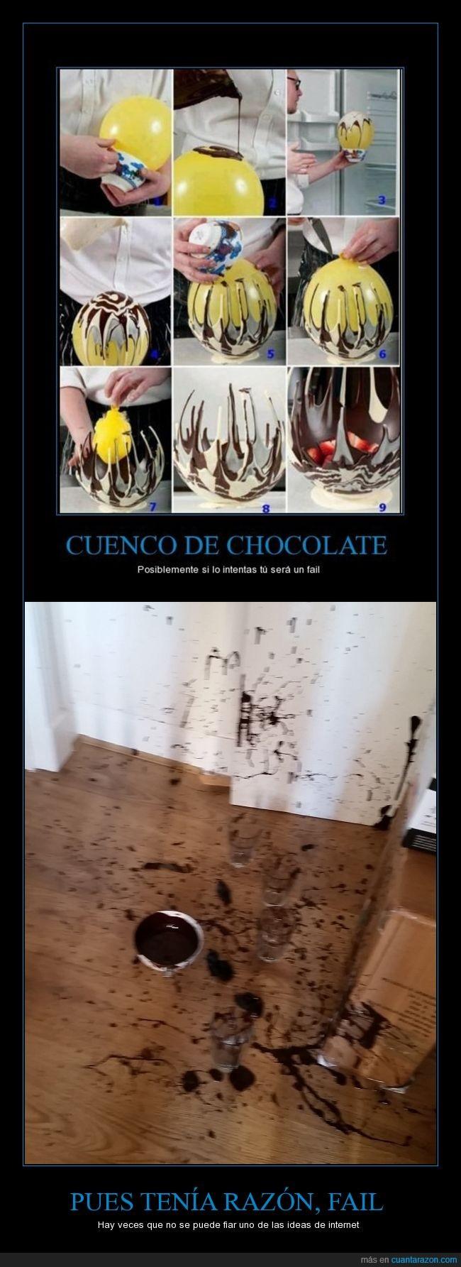 chocolate,desastre,explosión,fail,Globo,intentar