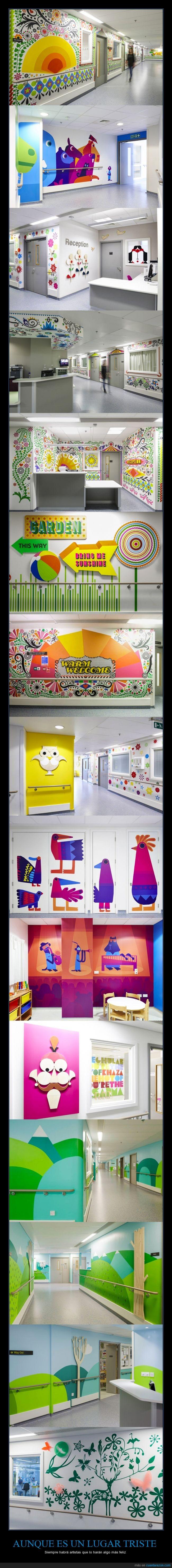alegrar,alegria,arte,colores,colorido,decorar,feliz,hospital,infantil,niño,pediatria,pintar