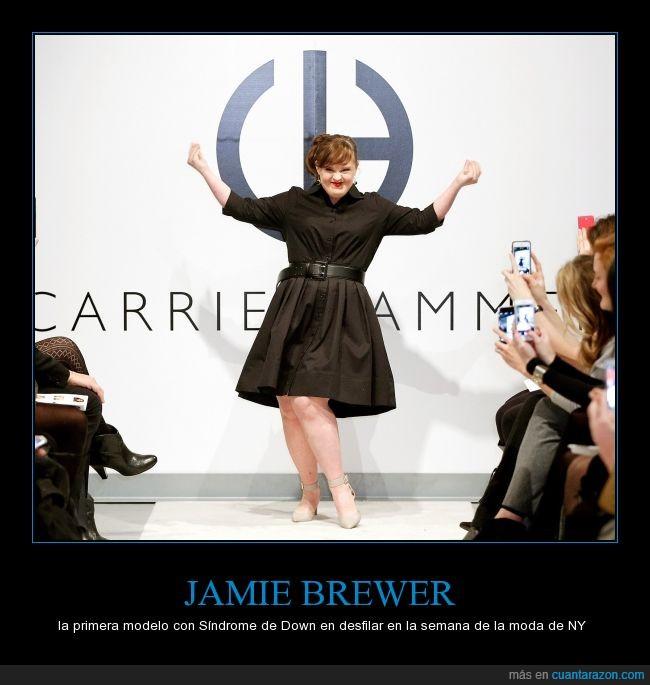 actriz,desfile,Jamie Brewer,moda,modelo,nueva york,pasarela,semana,sindrome de down