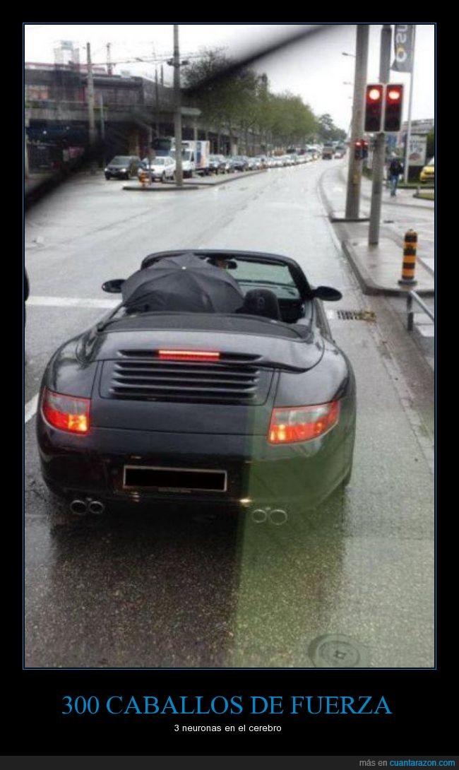 coche,descapotable,fail,mojar,paraguas,proteger,tapar