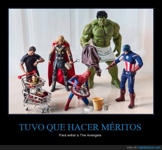 Capitán América,cómic,Hulk,humor,Marvel,Película,Spiderman,superheroes,The Avengers,Thor,Tony Stark