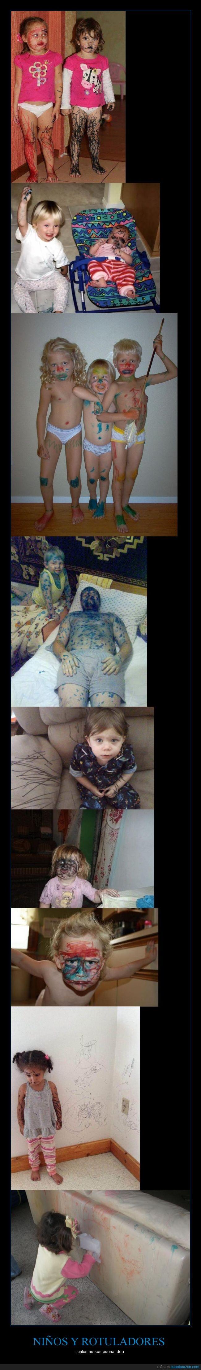 cara,casa,desastre,hermano,indios,niño,padre,permanente,pintar,rotulador