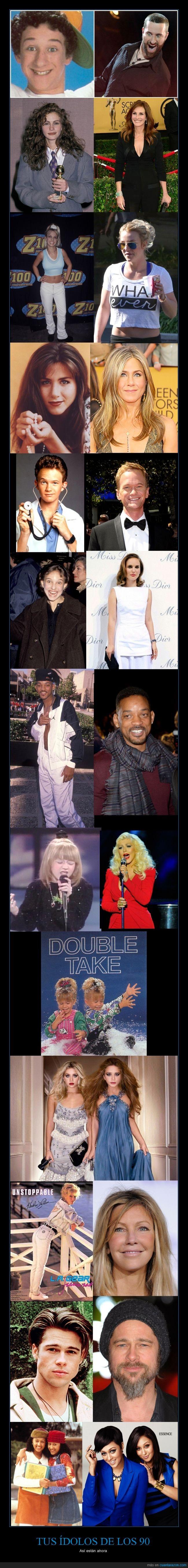 90,90's,brad pitt,Britney spears,christina aguilera,gemelas,idolo,Julia Roberts,Natalie Portman,Neil Patrick Harris,noventas,will smith