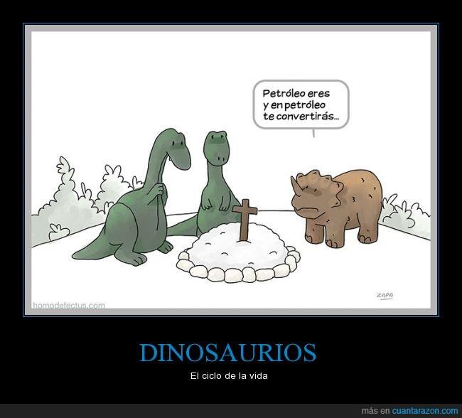 cómic,dibujos,dinosaurios,humor,petróleo