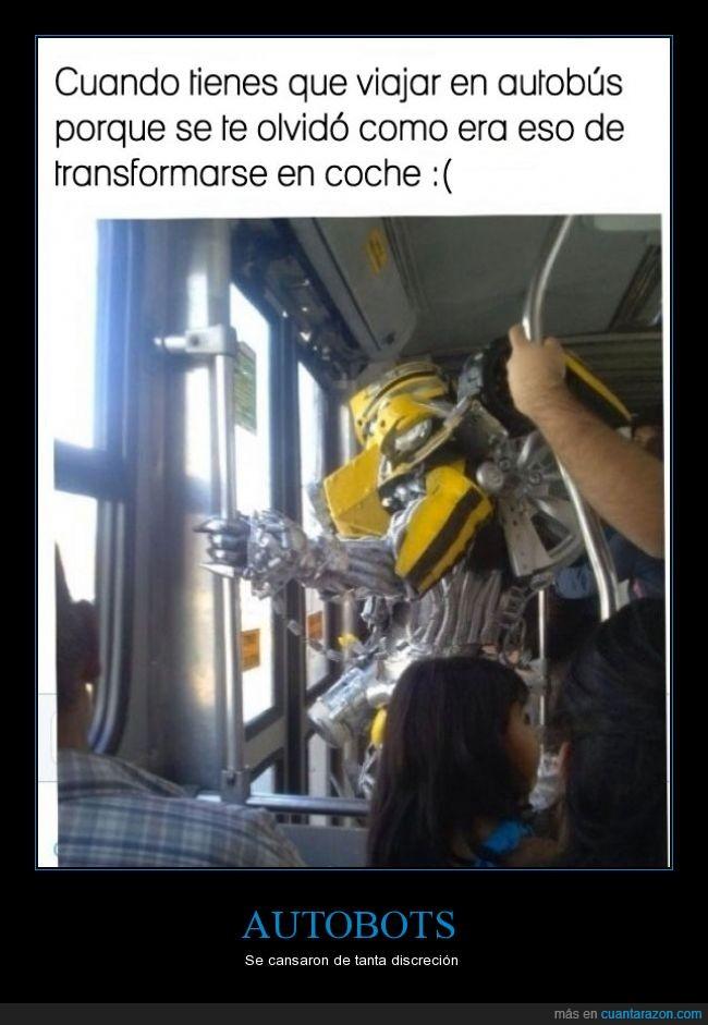 autobus,bumblebee,camaro,discrecion,normal,todo mundo ya sabe quienes son,transporte publico