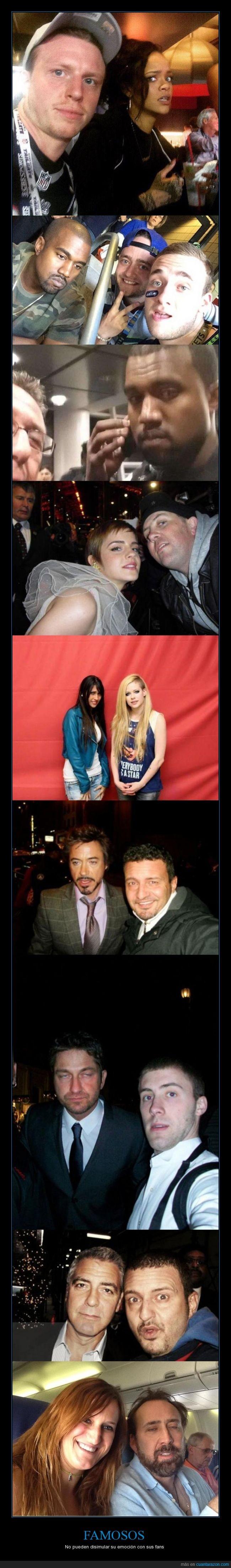 Avril Lavigne,cara,disimular,disimulo,emocion,famoso,fans,Gerard Butler,kanye,Nicolas cage,Rihanna