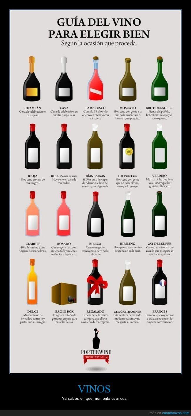bebida,diferentes,Fiestas,pedir,Reunión,tipos,Vinos