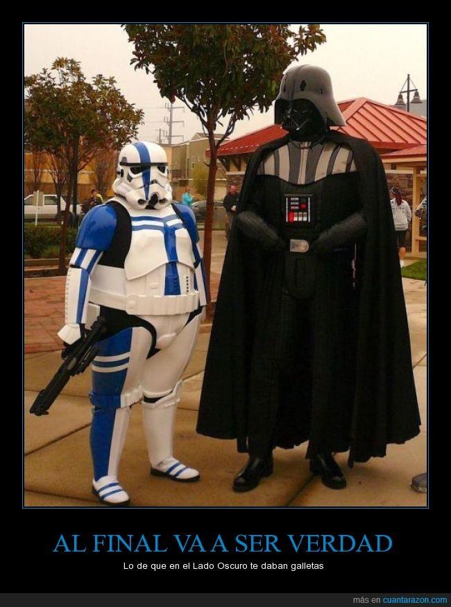 Darth Vader,galletas,gordo,lado oscuro,Star Wars,stormtrooper