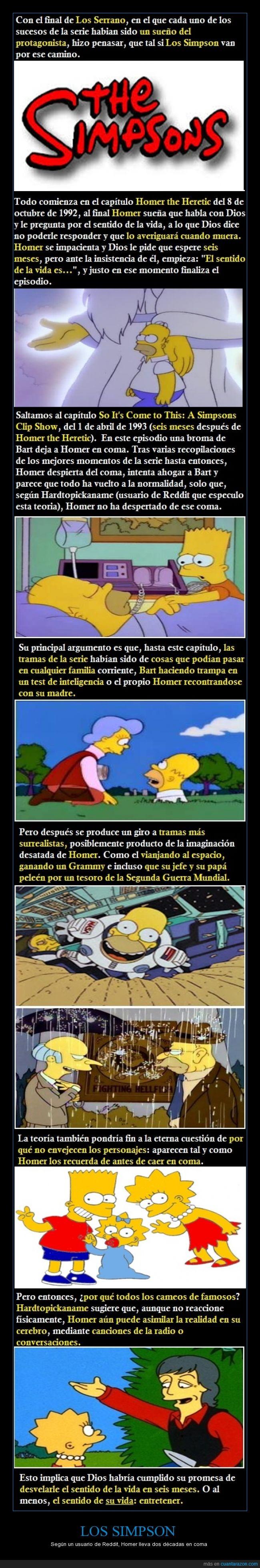 Abraham Simpson,Bart,Burns,cameos,coma,Dios,famosos,Homer,Lisa,Los Simpson,Maggie,Paul McCartney,Reddit,Segunda Guerra Mundial,sentido de la vida,teoría,tesoro