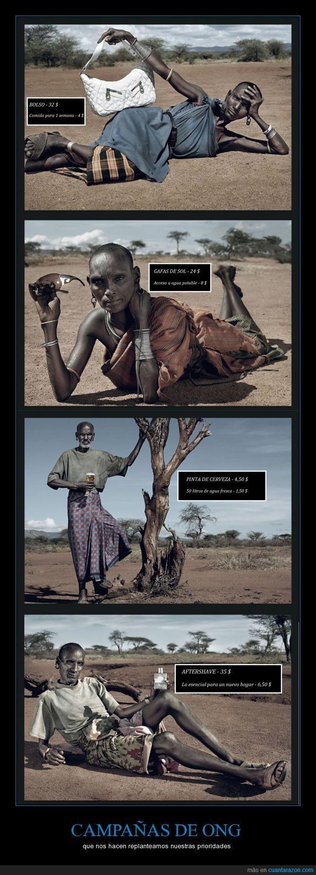 áfrica,agua,anuncio,campaña,comida,dinero,ong,pobreza