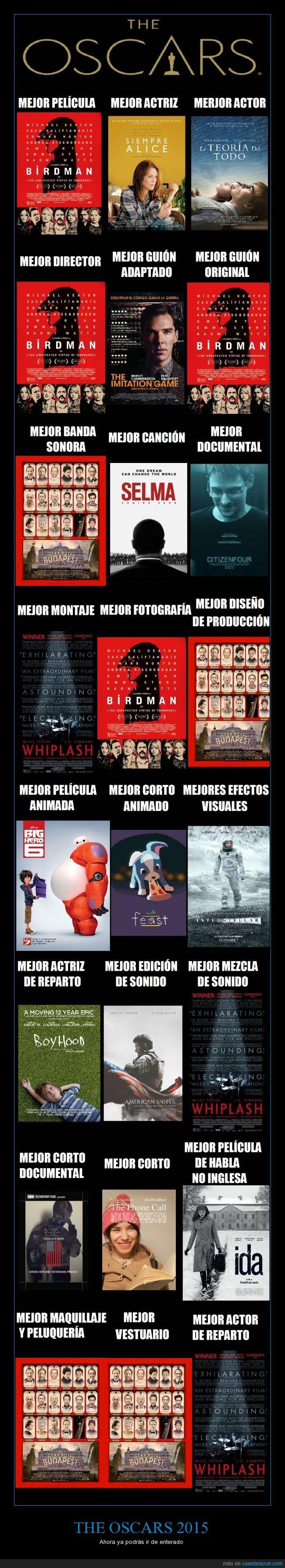 Birdman,El gran hotel Budapest,Mejor montaje de carteles Kinkerash,Neil Patrick Harris,Oscars