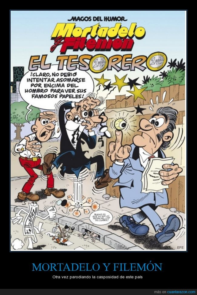 Bárcenas,Filemón,Humor,Ibáñez,Mortadelo,Mortadelo y Filemón
