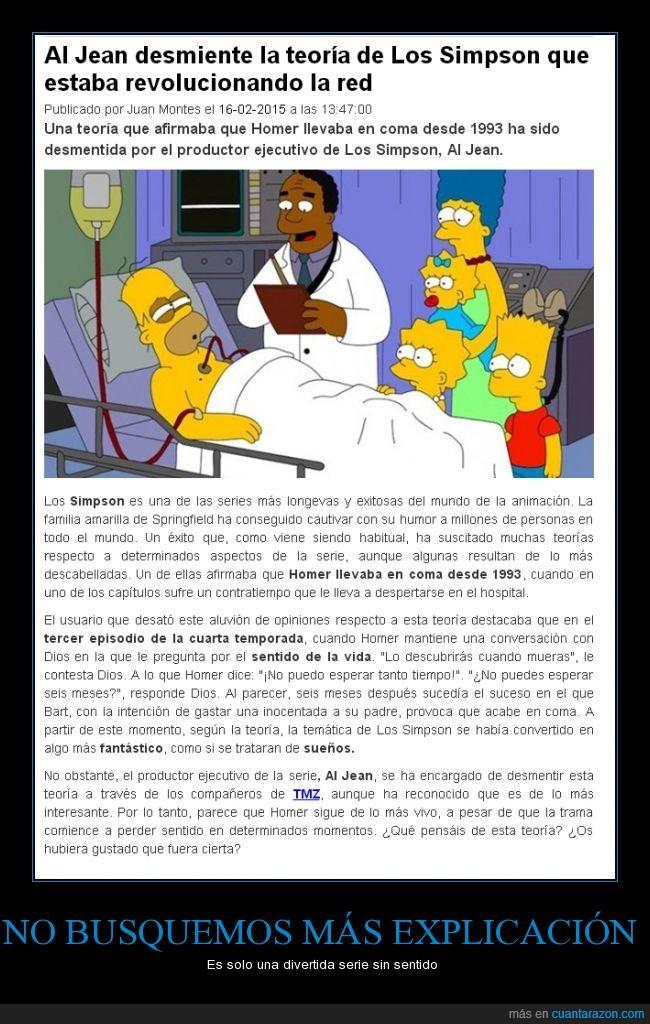 Al Jean,coma,comer,creador,desmentir,desmiente,Homer,productor ejecutivo,reddit,Seria,Simpson,teoria,Verdad