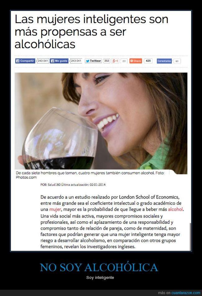 alcoholica,beber,inteligente,lista,mujer,propensa,social,socializar