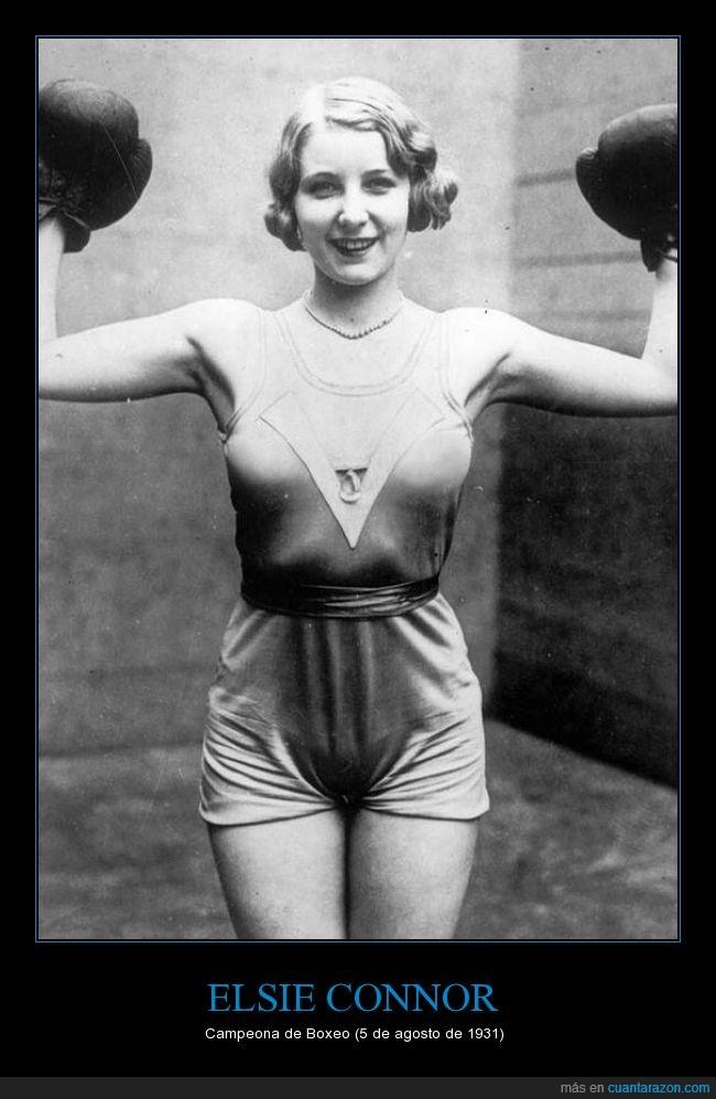 1391,1930,boxeadora,boxeo,campeona,Elsie Connor,irlanda,irlandesa,vintage