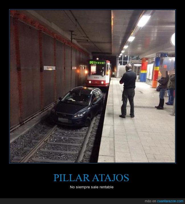 atajo,coche,metro,no entiendo nada,publico,transporte,tren,via