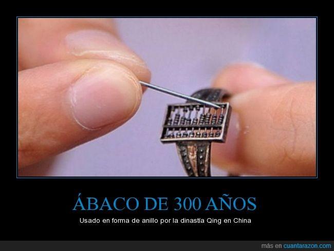 abaco,anillo,china,chino,contar,joya,matematicas,pequeño,qing