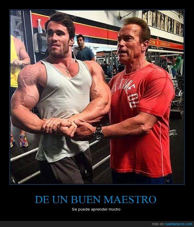 Arnorld Schwarzenegger,cachas,culturismo,fuerte,fuerza,halterofilia,maestro