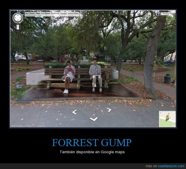 autobús,estación,Forrest Gump,Google Maps,imposible pero es real,internet lo sabe todo