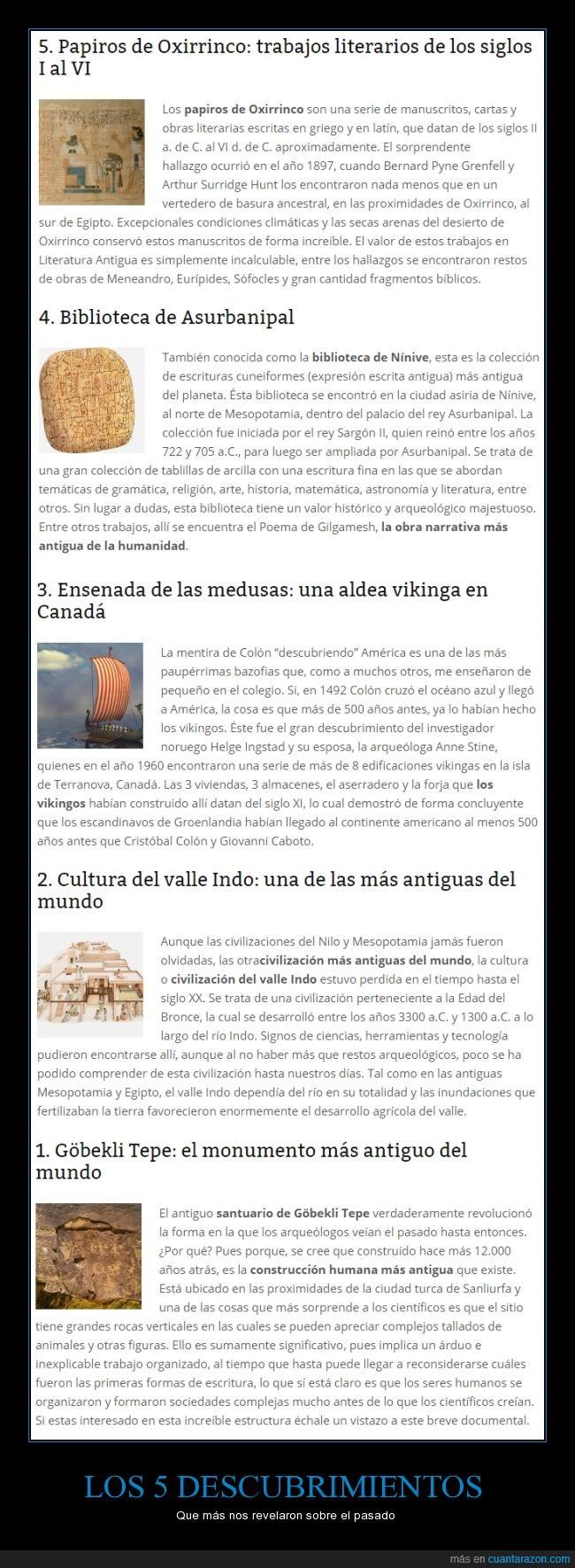 5,aldea,biblioteca,Canada,curiosidad,descubrimiento,descubrir,gobekli tepe,papiro,pasado,revelar,revelaron,ruina,vikingo