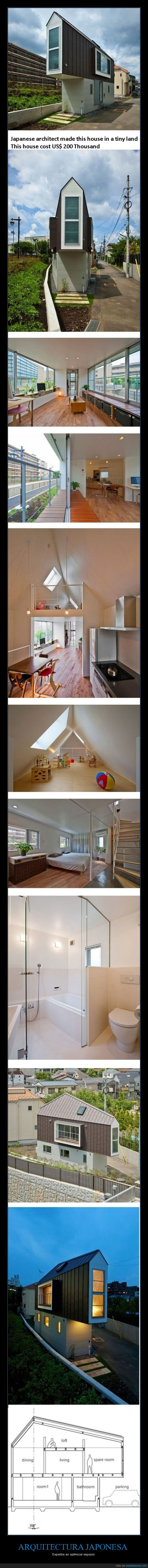 arquitecto,arquitectura,casa,espacio,estrecha,forma,japon,lujo,solo ricos,super casa,yo quiero esa casa