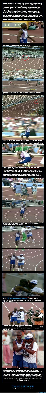 ayuda,correr,Derek Redmond,hijo,historia,olimpiadas,padre,padres,superación