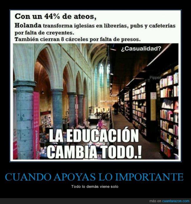 ateismo,ateo,cafeteria,carcel,Holanda,iglesia,iglesias,libreria,pub,religion,transforma,vacia