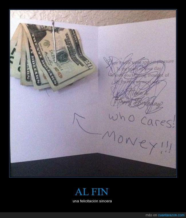a quién le importa,billetes,dinero,felicitación,nota,tarjeta