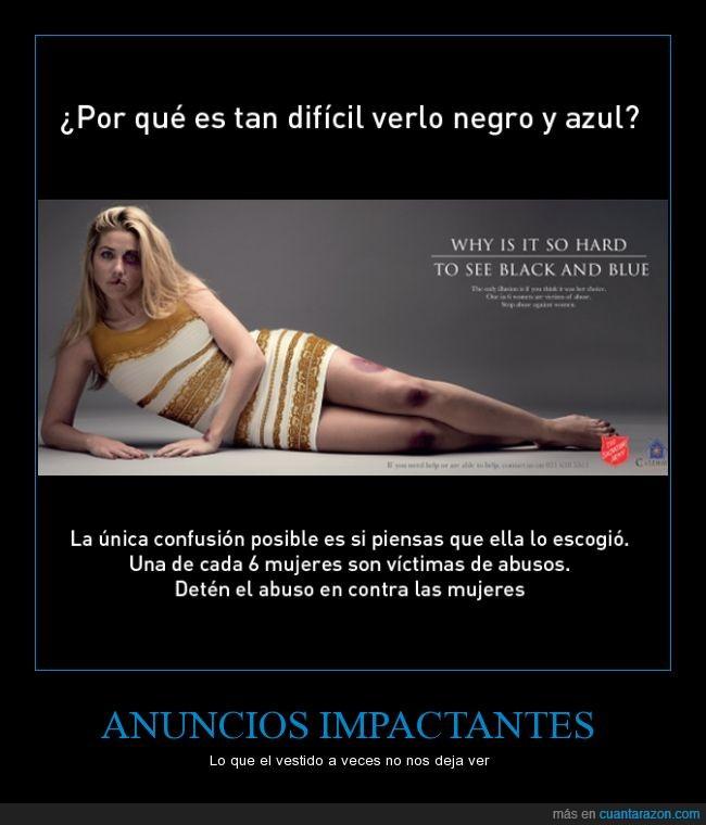 actualidad,anuncio,campaña,mujeres maltratadas,salvation army,the dress,vestido