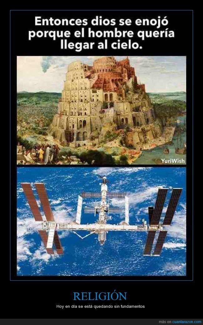 Biblia,Dios,enfadar,enfado,estación espacial,religión,torre de Babel