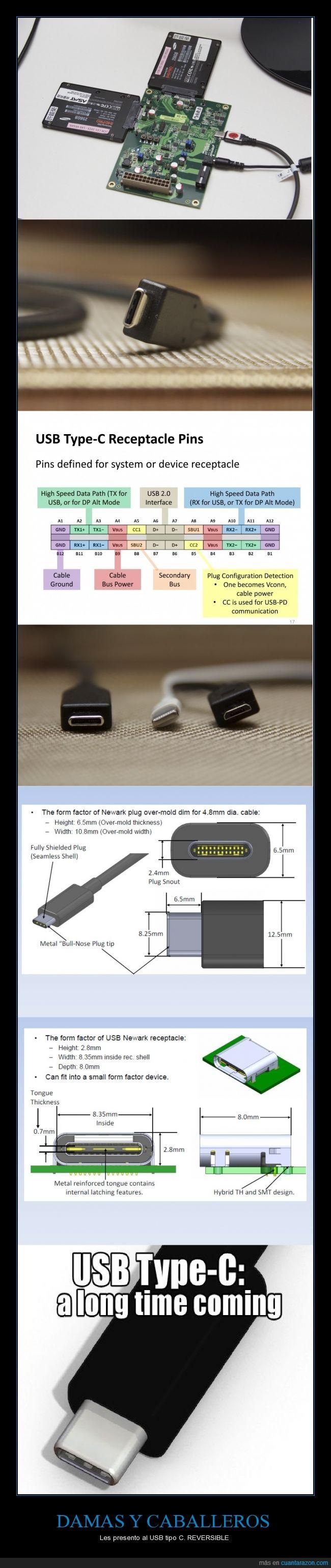 el primer dispositivo en usar este puerto será la tableta N1 de Nokia,https://www.youtube.com/watch?v=y1OjrlAUv8c a partir del minuto 3:26 entenderán,podría reemplazar al cable HDMI,se podrán cargar portátiles por medio de este cable,tasa de transferencia hasta de 10 Gigabits/segundo,tiembla apple!,usb tipo c