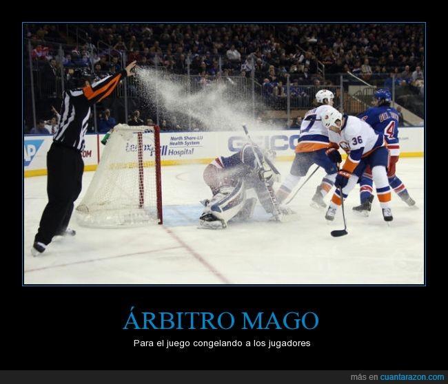 arbitro,deporte,hielo,hokey,magia,mago