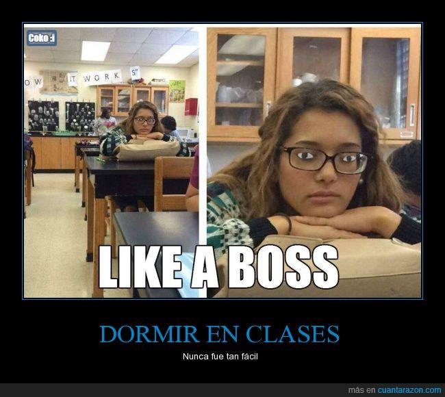 clases,cristales,disimular,dormir,gafas,like a boss,ojos,pegar,pegatinas,truco
