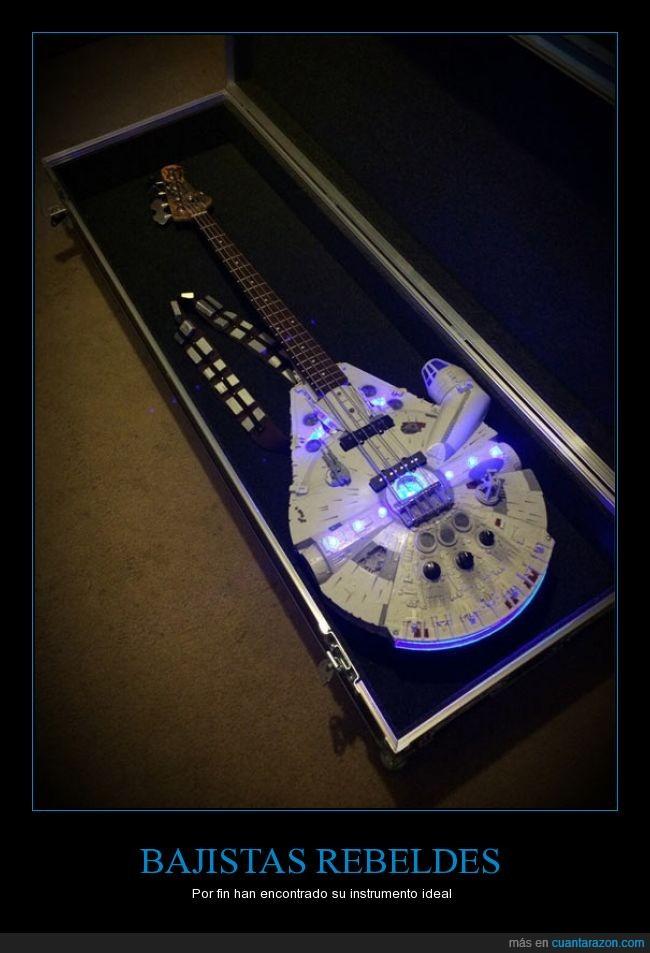 bajo,guitarra,Halcón Milenario,Star Wars