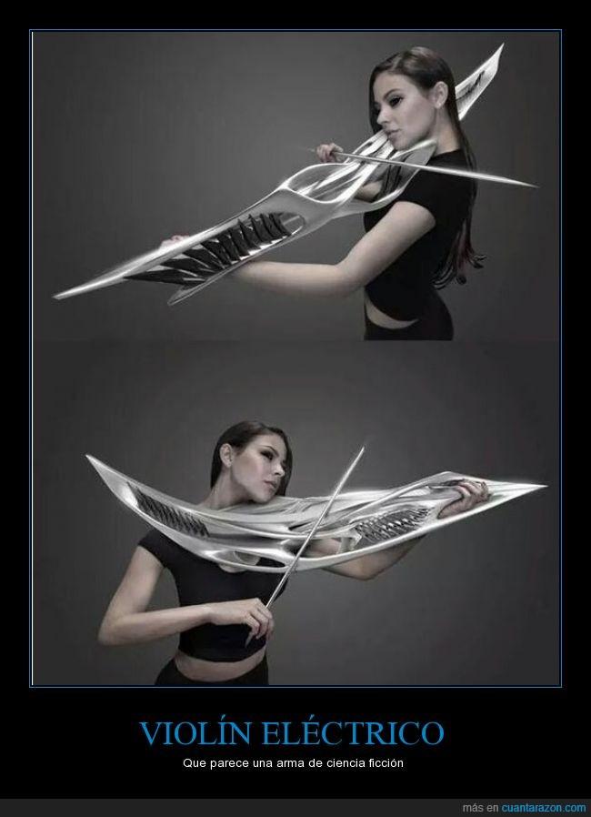 arma,ciencia,diseño,electrico,epico,ficcion,violin