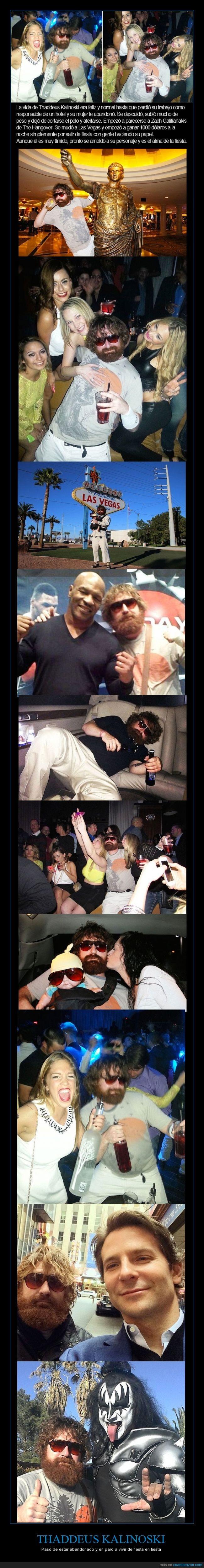 Bradley Cooper,fiesta,Gene Simmons,Mike Tyson,Resacón en las Vegas,Thaddeus Kalinoski,The Hangover,Zack Galifianakis