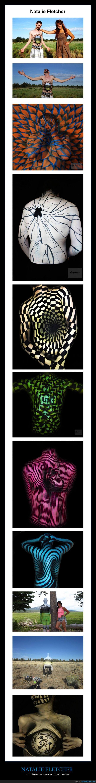 artista,ilusiones ópticas,increible,lienzo humano,Natalie Fletcher,pintar,pintura