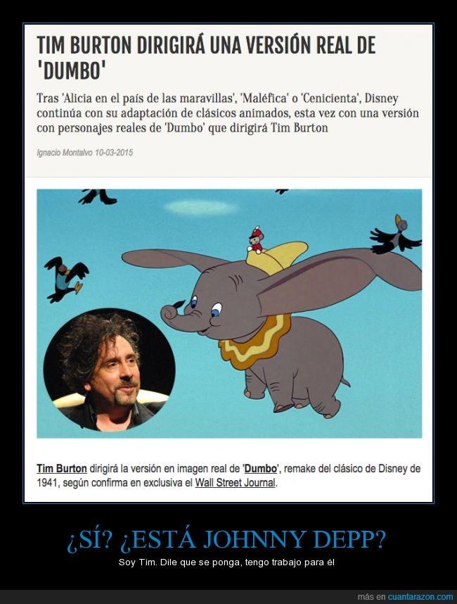 Dumbo,enchufado,Johnny Depp,película,Tim Burton