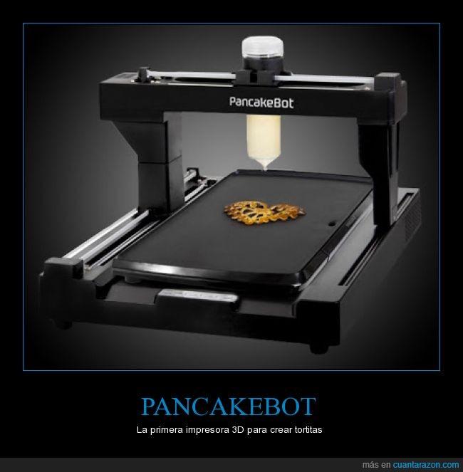 comer,comida,crear,diseño,estampado,Impresora 3D,masa,pancake,Tortitas
