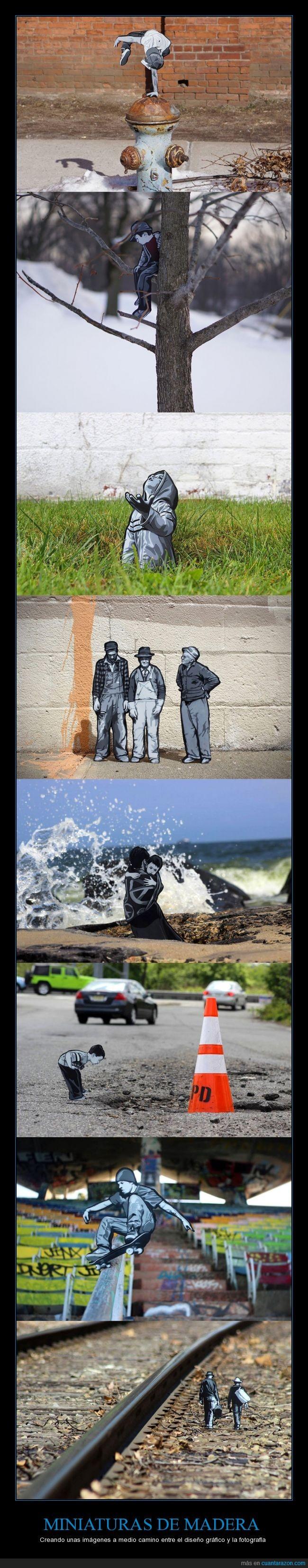 arte,blanco y negro,dibujo,fotografía,gris,ilustracion,Joe Iurato,madera,madre,miniatura,salto,skate,tren