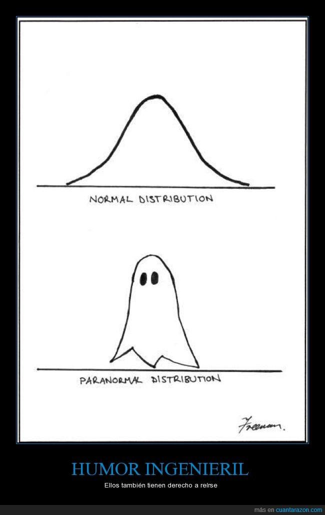 distribución,estadística,fantasma,humor,ingeniero,no ligan pero son ricos,normal,paranormal