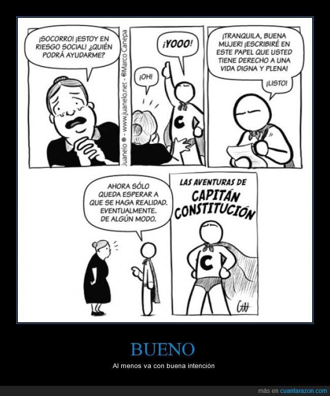 Capitán Constitución,constitución,inutilidad,riesgo social