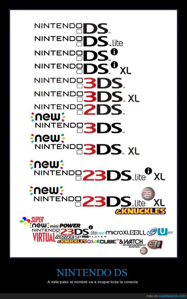 añadir,consola,demasiado,DS,grande,logo,Nintendo,nombre,portatil