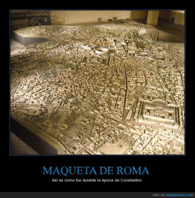 Constantino,época,era,escala,impresionante,maqueta,roma