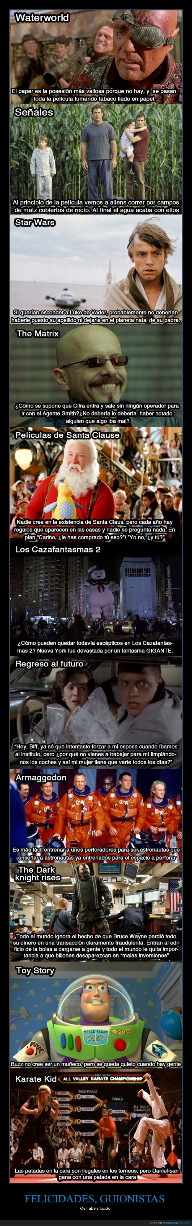 agua,argumento,armaggedon,atronautas,back to the future,batman,buzz,cara,dinero,error,grulla,Karate Kid,Los cazafantasmas,matrix,papel,patada,pelicula,perforadores,regreso al futuro,señales,Skywalker,Toy Story,waterworld